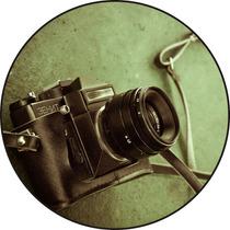 Quadro Personalizado Em Disco De Vinil, Máquina Fotografica