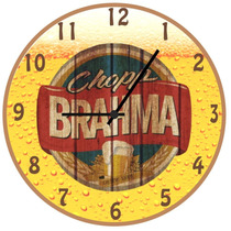Relógio Parede-retrô-vintage-cerveja-churrasco-brahma