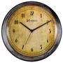6655 - Relógio De Parede Envelhecido Velho Retrô Herweg