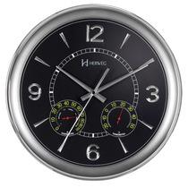 6328 - Relógio Parede Sweep Preto 34cm Termômetro Heweg
