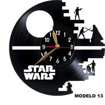 Relógios De Disco De Vinil - Star Wars Modelos 13 Ao 18