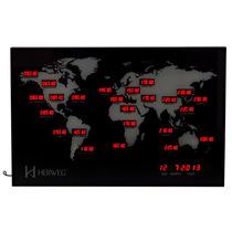 6384 - Relógio Fuso Horário Mundial Calendário Horário Verão