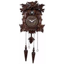 Relógio De Parede Cuco Herweg Pêndulo Em Madeira 5300 084