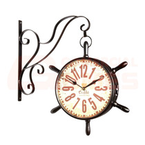 Relógio De Parede Dupla Face Estação Vintage Retrô - Lindo