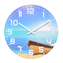 Relógio De Parede 29 Cm Praia Canoa Decorativo Cozinha