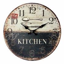 Relógio Lindo Kitchen Talheres
