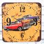 Relógio De Parede Em Madeira Mdf Carros Antigos Retrô