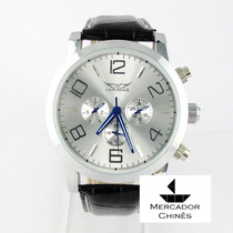 Relógio Importado Jaragar Prata Gigante Automático