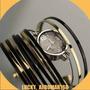 Lindo Relógio Bracelet Gold Melhor Lance Leva.