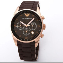 Relógio Emporio Armani Ar5890 Marrom Ouro Rose Frete Grátis.