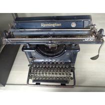Máquina De Escrever Antiga Remington Modelo Raro Casa Pratt
