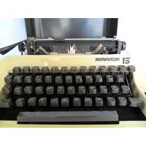 Máquina De Escrever Antiga Remington 15 Com Maleta Coleção
