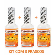 Veneno Formiga Formicida Spray Formimax 50ml - Kit Com 3