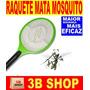 Raquete Elétrica Recarregável Bi-volt Mata Mosquito Moscas