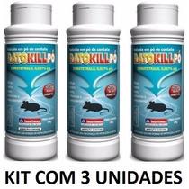 Mata Rato Veneno Raticida Pó - Ratokill 100g - Kit Com 3 Un.