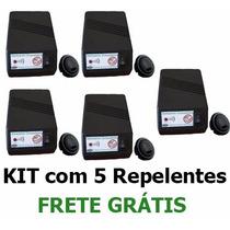Kit 5 Repelente Ultrassônico Contra Ratos, Morcegos E Gambás
