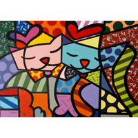 Quadro Tela- Painel Dois Gatos - Romero Britto