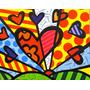 Quadro Pintura Em Tela - New Day - Romero Britto
