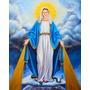 Pintura Nossa Senhora Das Graças- Arte Sacra Óleo Sobre Tela
