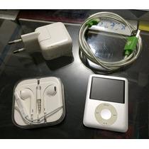 Apple Ipod Nano 4gb Com Cabo Usb Carregador E Fone De Ouvido