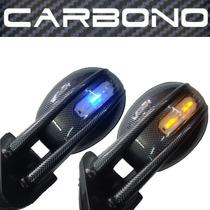Retrovisor Carbono C/ Pisca Tuning Adapta Fusca E Outros Par