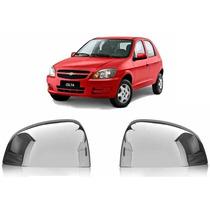 Kit Aplique Retrovisor Cromado Carro Chevrolet Gm Celta