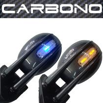 Par Retrovisor Carbono Tuning C/ Pisca Adapta Fusca E Outros
