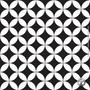 Adesivo De Azulejo Ladrilho Branco E Preto 15x15