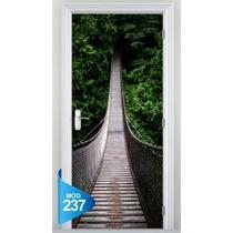 Adesivo 123 Porta Ponte Suspensa Luz Fim Tunnel Banheiro Wc