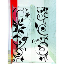 Adesivo Decoração Banheiro Porta Box Floral Faixas Arabescos