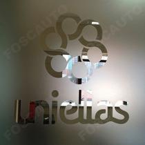 Adesivo Jateado P/ Vidro Porta Janela Personalizada Com Logo