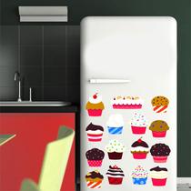 Adesivo Decoração Parede Cozinha Porta Geladeira Cup Cake