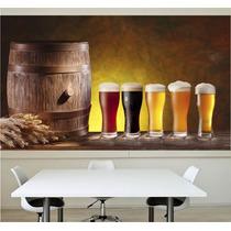 Adesivo Papel Parede Cerveja Cozinha Churrasqueira Bar M12