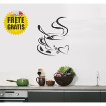 Adesivo Frete Grátis Decorativo Cozinha Papel Parede Café
