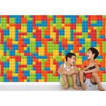 Adesivo Painel Papel De Parede Infantil Quarto Lego Blocos