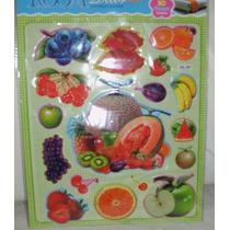 Adesivos Frutas Decorativo 3d Geladeira, Armário Ou Azulejo