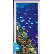 Adesivo 123 Porta Quarto Sala Praia Fundo Do Mar Aquario 84