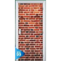 Adesivo 123 Porta Quarto Sala Muro Tijolos Velhos 99