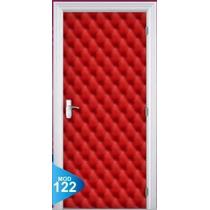 Adesivo 123 Porta Quarto Sala Capitone Vermelho 122
