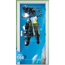 Adesivo 123 Porta Quarto Sala Moto Motocross Xgames 106