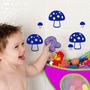 Adesivo 24 Cogumelos Em Vinil Decoração Infantil Adulto