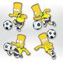 Adesivo De Parede - Futebol Bart Simpson - Brasil Simpsons