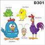 Adesivo Decorativo Infantil Galinha Pintadinha E Amigos D301