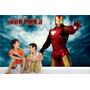 Adesivo Papel Parede Infantil Homem Ferro Herois Marvel M16