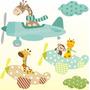 Adesivo Infantil Zoo Parede Decorativo Safari Girafa Bichos