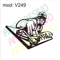 Adesivo V249 Desenho Abstrato Garoto Menino Dj Musica Parede