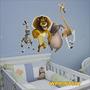 Adesivo Wpri7 Infantil Desenho Madagascar Animais Parede