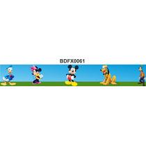 Adesivo Bdfx0061 Mickey E Sua Turma Border Quarto Do Bebê