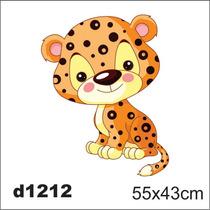 Adesivo D1212 Onça Pintada Oncinha Kid Infantil Decorativo