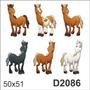 D2086 Adesivo Decorativo Cavalo Cavalinhos Infantil